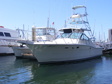 Six pack fishing charters San Diego on El Gato Dos - Mission Bay 6-pack